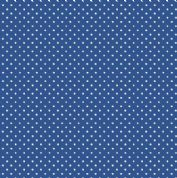 Spot by Makower UK - 5362 - White Spots on Marine Blue - 830_B68 - Cotton Fabric